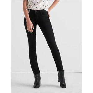 Lucky Brand Black Denim Lolita Skinny Jeans 12/13